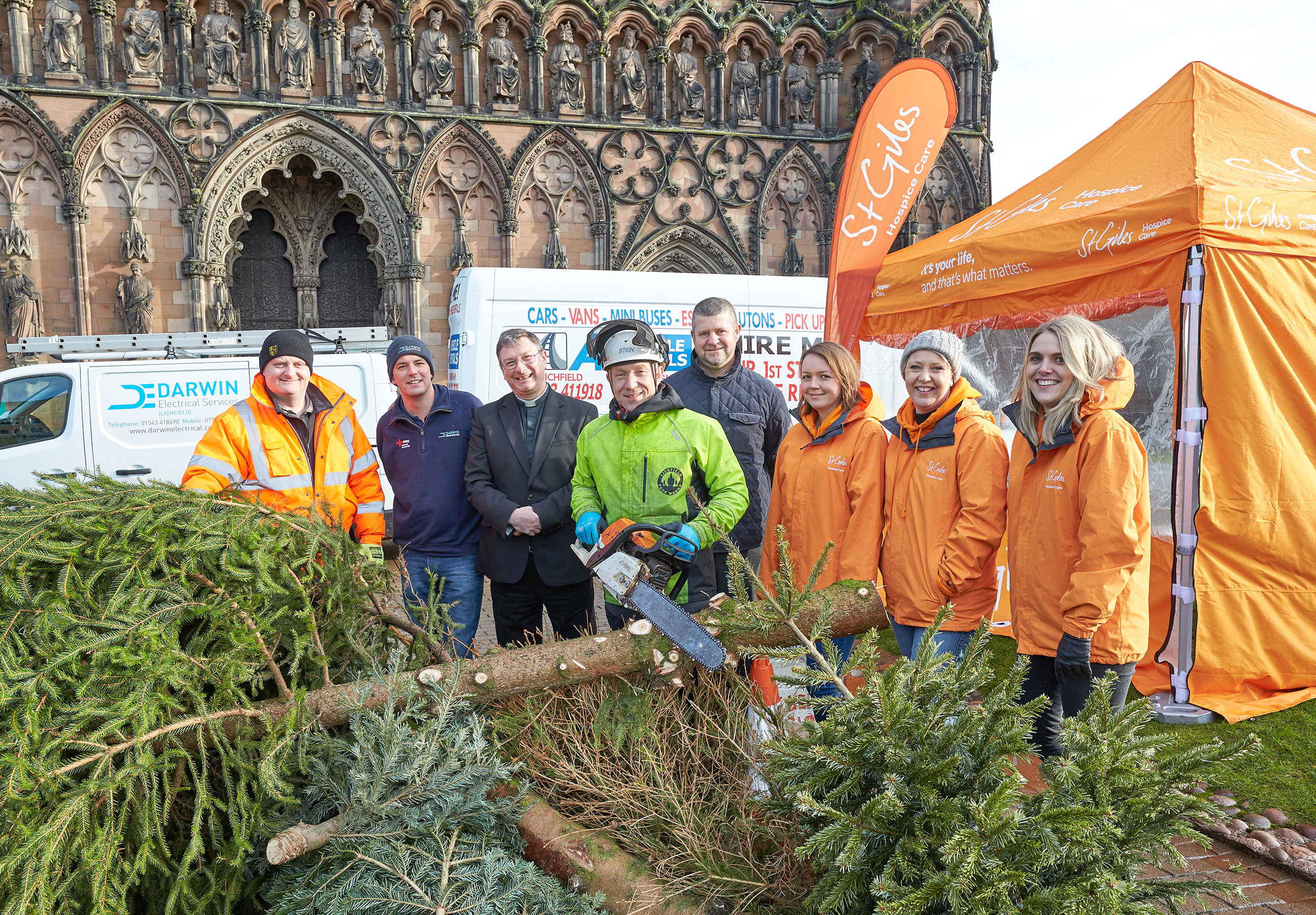 Green Treecycle Campaign Gets New Year Off To A Great Start For St Giles Hospice