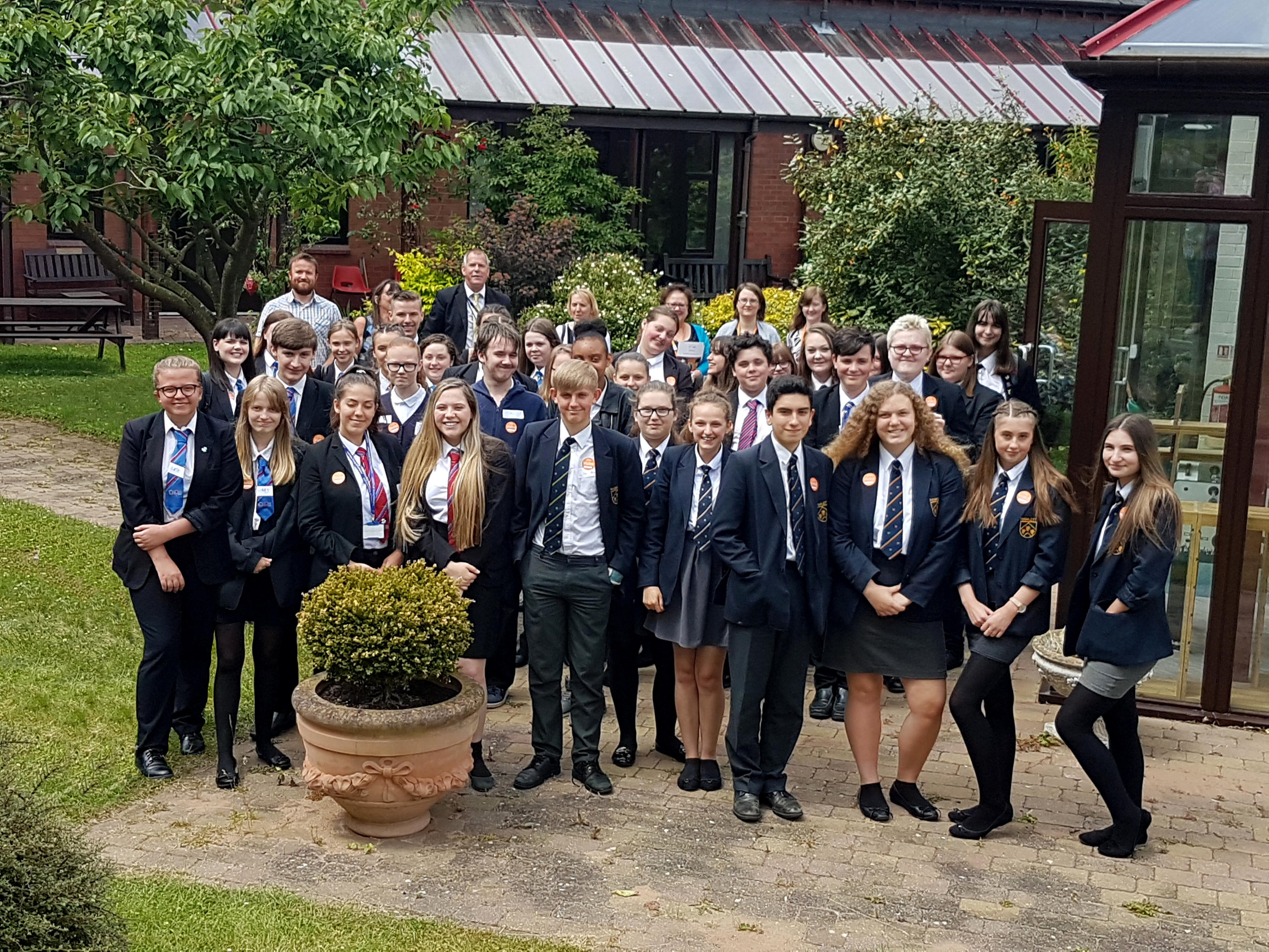 Tamworth teenages enrich their learning at St Giles Hospice