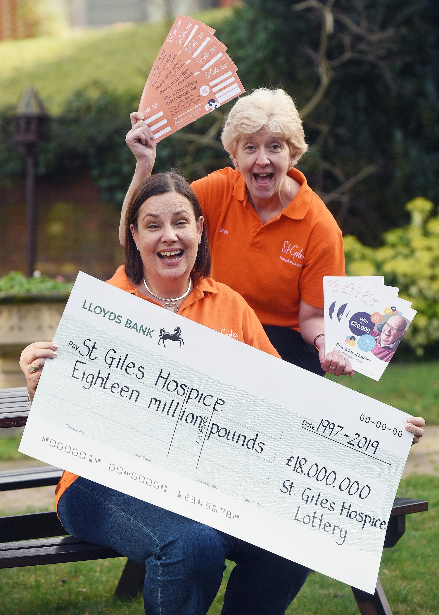 St Giles Hospice thanks lottery players for 22 years of fundraising success