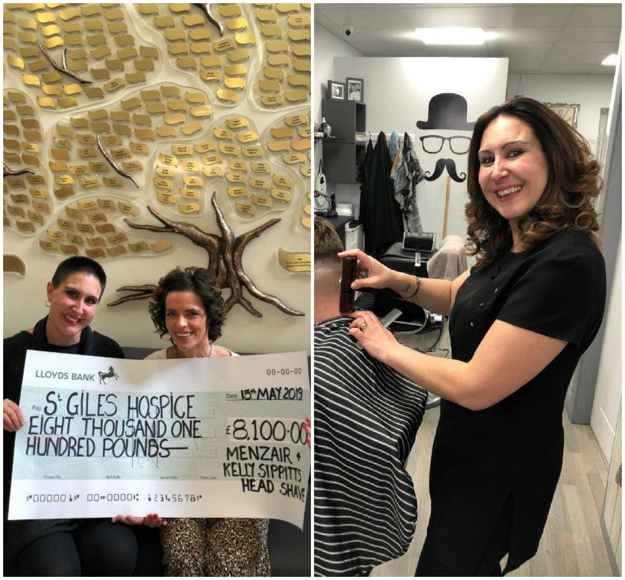 Tamworth headshave party raises £8,100 for St Giles