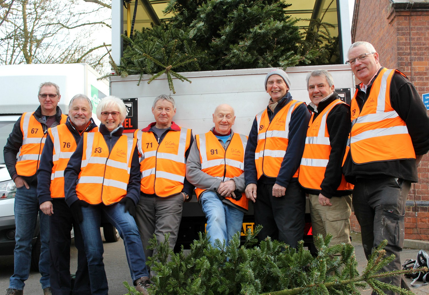 Log your support now and help St Giles Hospice break Christmas Treecycle record
