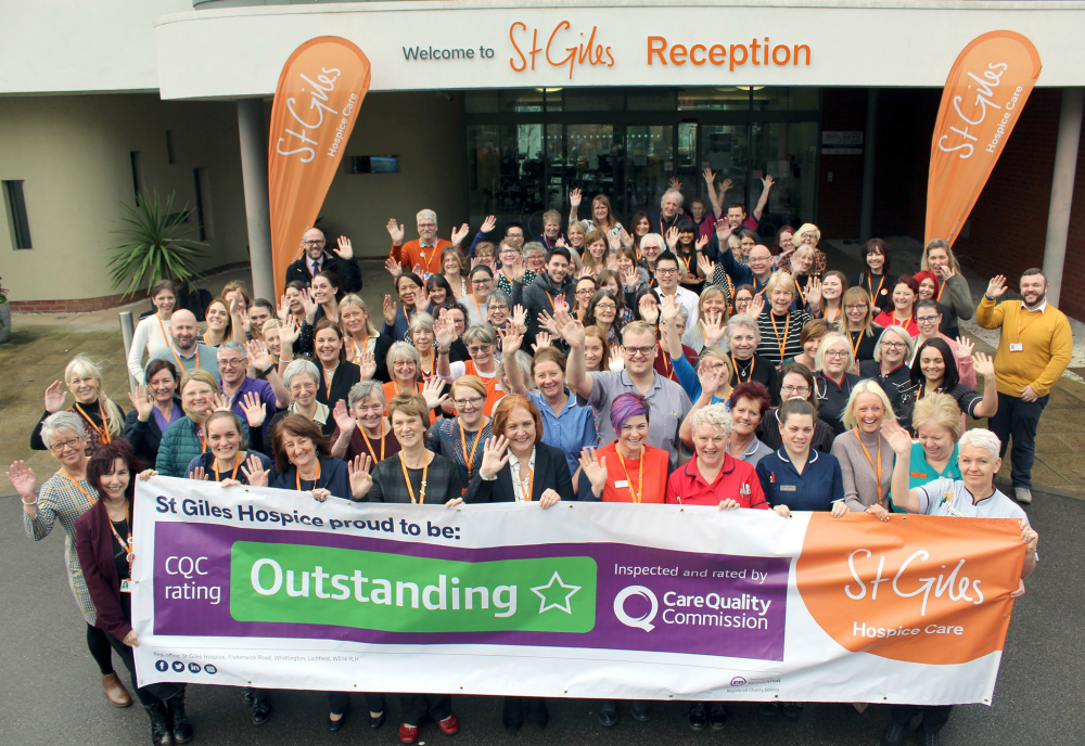 The Care Quality Commission says St Giles Hospice is Outstanding