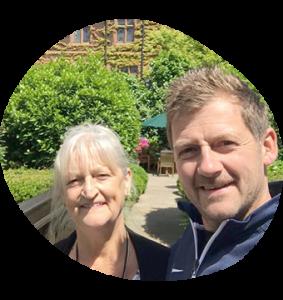 Anthony Shepherd with his mum, Carol