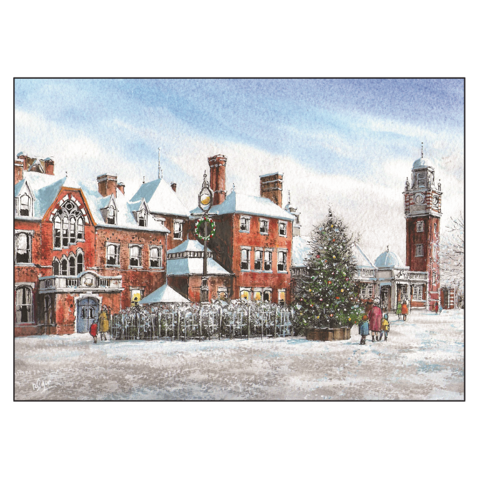 Local landmarks given the festive treatment in our Hospice Christmas Card collection