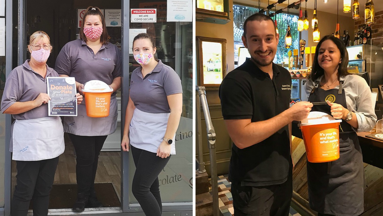 Restaurants and cafés back #DonateYourPlate